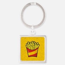 French Fries Square Keychain