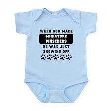When God Made Miniature Pinschers Body Suit