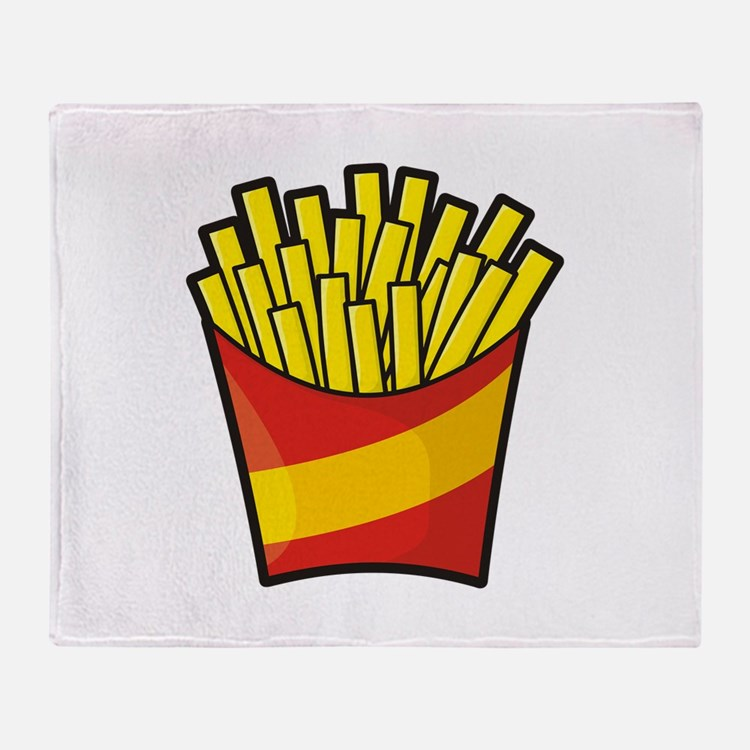 French Fries Throw Blanket