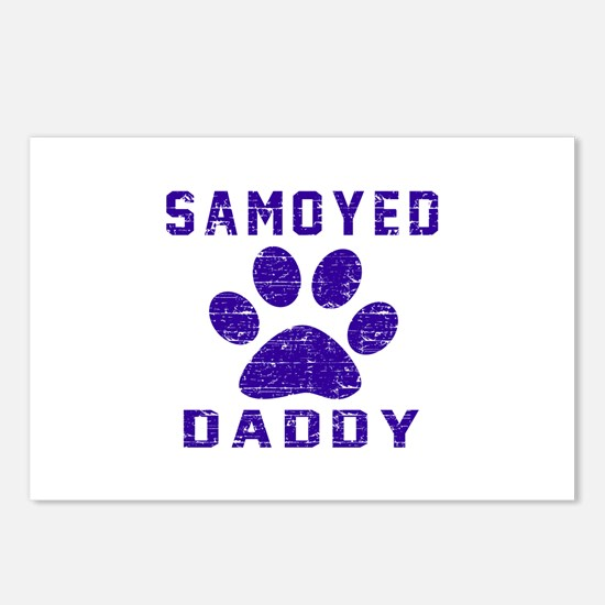 Samoyed Daddy Designs Postcards (Package of 8)