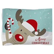 Reindeer Christmas Pillow Sham