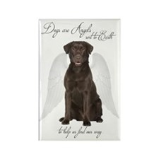 Chocolate Lab Angel Magnets