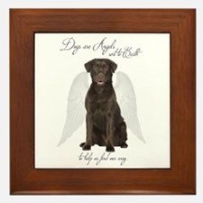 Chocolate Lab Angel Framed Tile
