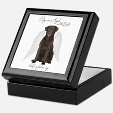 Chocolate Lab Angel Keepsake Box