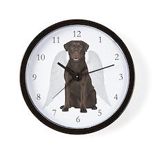 Chocolate Lab Angel Wall Clock