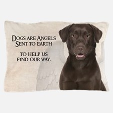 Chocolate Lab Angel Pillow Case