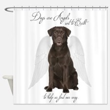 Chocolate Lab Angel Shower Curtain