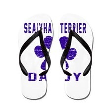 Sealyham Terrier Daddy Designs Flip Flops