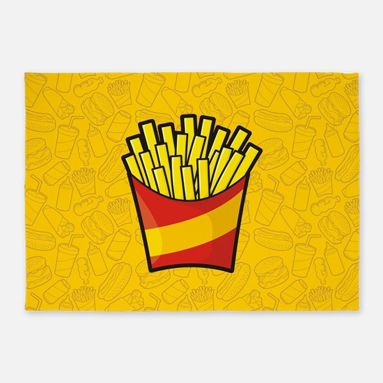 French Fries 5'x7'Area Rug