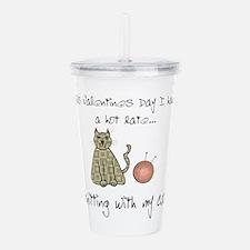knitting cat 1.png Acrylic Double-wall Tumbler