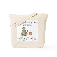 knitting cat 1.png Tote Bag