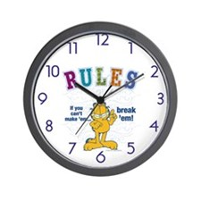 Break Rules Garfield Wall Clock