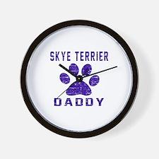 Skye Terrier Daddy Designs Wall Clock