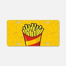 French Fries Aluminum License Plate