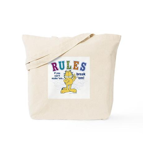 Break Rules Garfield Tote Bag