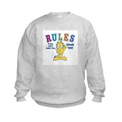 Break Rules Garfield Sweatshirt