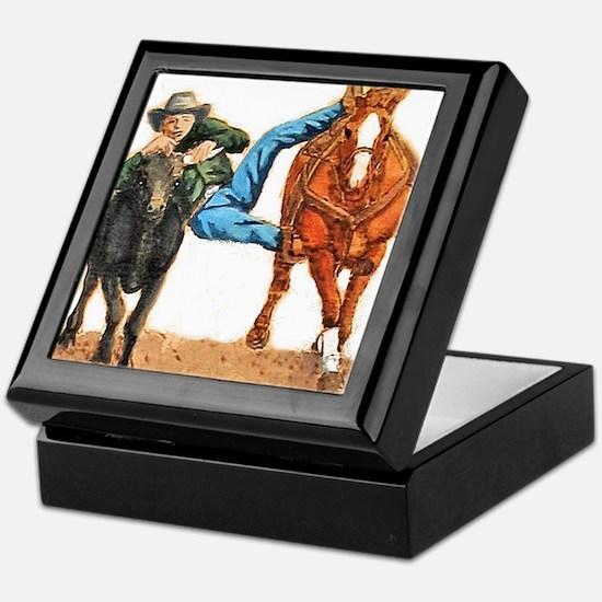 Bull Doggin, Steer Wrestling Keepsake Box