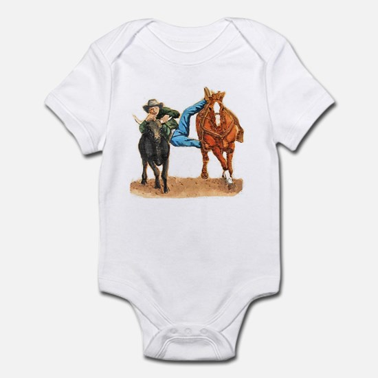 Bull Doggin, Steer Wrestling Infant Bodysuit