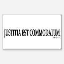 Justitia Est Commodatum Rectangle Decal