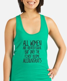 Cute Accountant t Racerback Tank Top