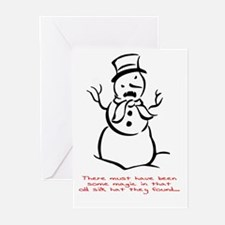 snowmonster_out2 Greeting Cards