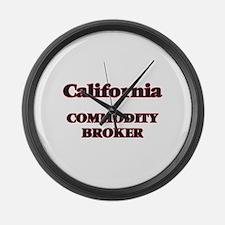 California Commodity Broker Large Wall Clock