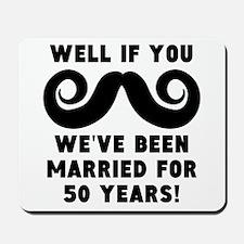 50th Wedding Anniversary Mustache Mousepad