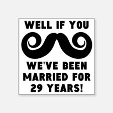 29th wedding anniversary mustache sticker