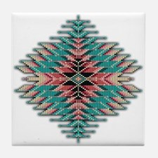 Southwest Native Style Sunburst Tile Coaster