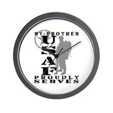 Bro Proudly Serves 2 - USAF Wall Clock