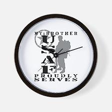Bro Proudly Serves 2 - USAF Wall Clock