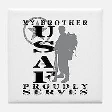 Bro Proudly Serves 2 - USAF Tile Coaster