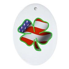 Irish American Oval Ornament
