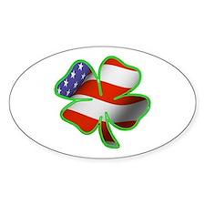 Irish American Oval Bumper Stickers