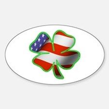 Irish American Oval Decal