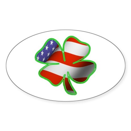 Irish American Oval Sticker