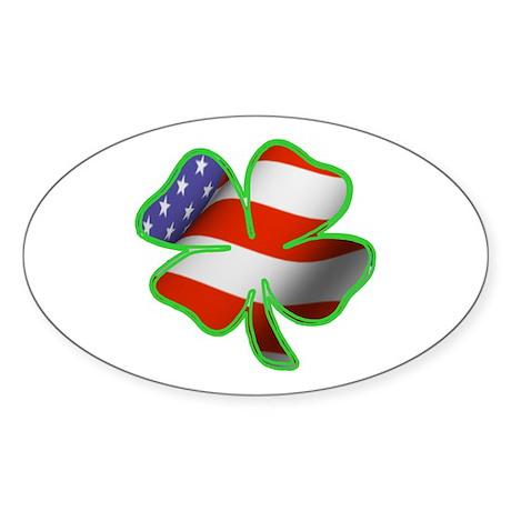 Irish American Oval Sticker