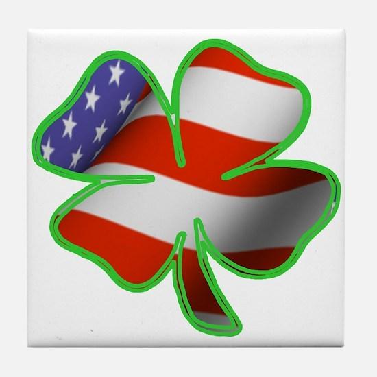 Irish American Tile Coaster