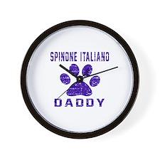 Spinone Italiano Daddy Designs Wall Clock