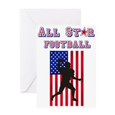 All Star American Football Greeting Card