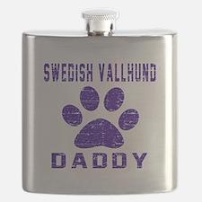 Swedish Vallhund Daddy Designs Flask