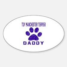 Toy Manchester Terrier Daddy Design Decal