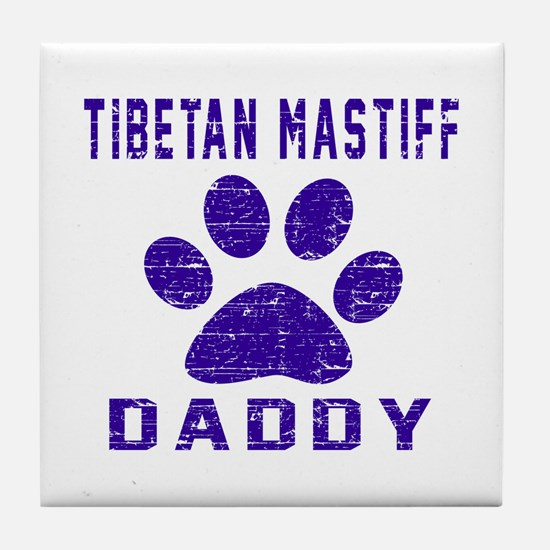 Tibetan Mastiff Daddy Designs Tile Coaster