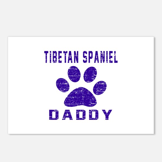 Tibetan Spaniel Daddy Des Postcards (Package of 8)
