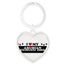 Unique Dog Heart Keychain
