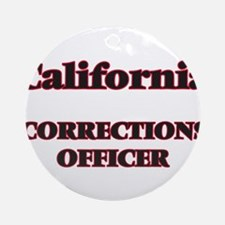 California Corrections Officer Round Ornament