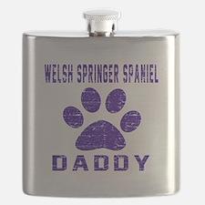 Welsh Springer Spaniel Daddy Designs Flask