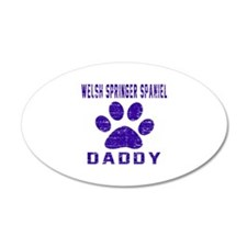 Welsh Springer Spaniel Daddy Wall Decal