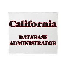 California Database Administrator Throw Blanket