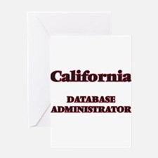 California Database Administrator Greeting Cards